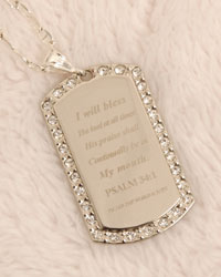 Necklace - Contact us in Hampton, Virginia, for more information on our air fresheners featuring several fragrances and inspirational bible passages to choose from.
